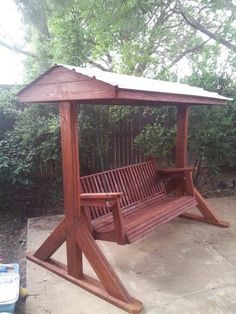 Pergola With Retractable Roof Referral: 5295879581 Porch Swing Frame, Porch Swing With Stand, Patio Swing, Arbor Swing, Wood Swing, Backyard Swings, Backyard Pergola, Pergola Plans, Backyard Patio Designs