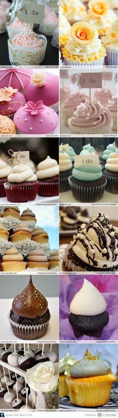 Wedding cupcake ideas! I love the I do signs