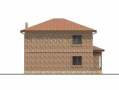 Проект двухэтажного коттеджа с эркером Rg4775