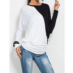 color+de+contraste+de+la+manga+del+batwing+de+la+camiseta+de+las+mujeres+aamikare+–+EUR+€+12.99