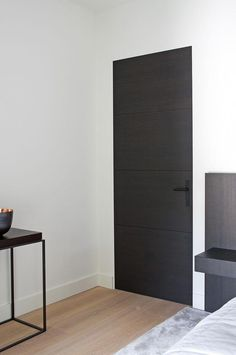 Image result for dark interior doors modern