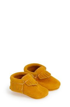 Freshly+Picked+'Stay+Golden'+Fringed+Moccasin+(Baby+&+Walker)+available+at+#Nordstrom