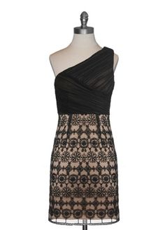 Antique Lace Cocktail Dress. Pretty cross cross detailing at top