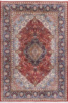 "Durlabha Red Affordable Oriental Carpet CS-E2475165 X 240 Cm. (5'5"" X 8' Ft.) - Carpetsanta"