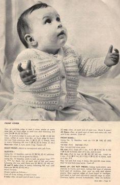 Album Archive - Patons - 394 - Those beautiful days Baby Knitting Free, Baby Cardigan Knitting Pattern Free, Baby Booties Free Pattern, Baby Boy Knitting Patterns, Baby Sweater Patterns, Knitted Baby Cardigan, Knit Baby Sweaters, Knitted Baby Clothes, Baby Patterns