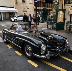 Mercedes Benz #300SL spotted in Paris (Rue Marbeuf) by tim.sport (instagram) / #BruceAdams190SL #300SLRestorations
