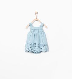 Embroidered denim dress-Dresses-MINI | ZARA United States