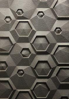 3D geometric wall surface.