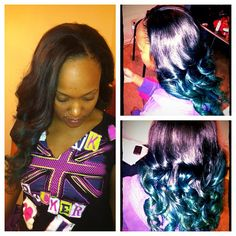 Glam'd up teal ombré  #ombre #teal #glam'd #up