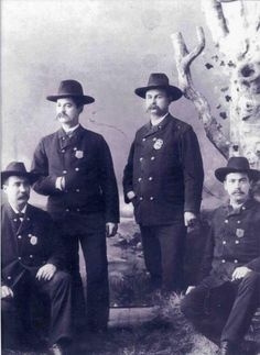 Earliest known photograph of members of the Ann Arbor Police Department (Mich.).  ca. 1871   Courtesy of Lt. Michael Logghe, the Ann Arbor Police Department and the City of Ann Arbor.