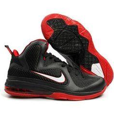 Nike LeBron 9 Black/White/Red Sport