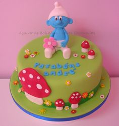 Smurf Cake Top Smurfs Cakes birthday party girl boys schtroumphs