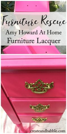 Learn how to use Amy Howard Furniture Lacquer to a. Learn how to use Amy Howard Furniture Lacquer to achieve a rich, high-gloss finish on an old, tired piece of furniture. Plywood Furniture, Lacquer Furniture, Kids Bedroom Furniture, Ikea Furniture, Colorful Furniture, Paint Furniture, Repurposed Furniture, Shabby Chic Furniture, Rustic Furniture