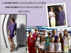 La Reina Sofía escoge blusón morado de Ana Durán para sus vacaciones en Mallorca!  #vacaciones #bikini #Mallorca #blusón #ReinaSofía #summer
