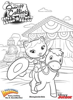 Sheriff Callie Coloring Pages Sun Coloring Pages, House Colouring Pages, Alphabet Coloring Pages, Mandala Coloring Pages, Coloring Pages For Kids, Coloring Books, Sheriff Callie Characters, Sheriff Callie's Wild West, Disney Coloring Sheets
