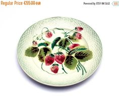 ON SALE  Majolica plate . French barbotine by FeelingOfDejaVu