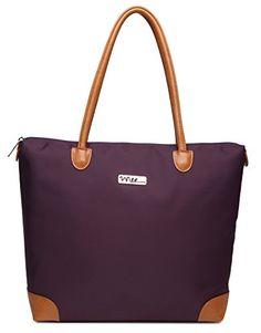 NNEE® Water Resistance Nylon Tote Bag  amp  Multiple Pocket Design - Purple  2 NNEE 6d3a2486023e2