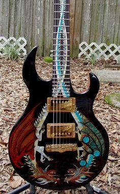 Virgil Guitars - Dueling Dragons Guitar