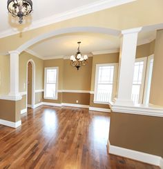 Living Room Paint Divider Ideas Two Toned Two Tone Walls Pic 17