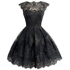 Courte Cocktail Soiree Robe de bal, robe de demoiselle d'honneur de partie de boule noir M