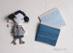 Unusual Art Doll Brooch gift for her by miopupazzo on Etsy