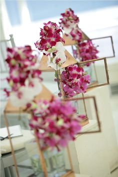 Pink and white Orchid with pink eye - aisle decoration by Tirtha Bridal Uluwatu Bali White Orchids, White Roses, Pink Eyes, Calla Lily, Color Themes, Wedding Colors, Flower Arrangements, Bali, Table Decorations