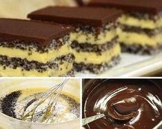 A mákos süteményeknek senki sem tud ellenállni Healthy Cake, Healthy Cookies, No Bake Desserts, Dessert Recipes, Yummy Treats, Yummy Food, Hungarian Recipes, Pastry Cake, Wedding Desserts