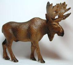 Schleich Animal Figurine 14310 Moose Zoo Wildllife Diorama Rare Retired