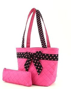 Belvah Quilted Solid 2pc. Lunch Tote Bag – Choice of Colors (Fuchsia/Black).Read more at http://www.zone355.com/belvah-quilted-solid-2pc-lunch-tote-bag-choice-of-colors-fuchsiablack/