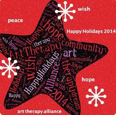 Happy Holidays from the Art Therapy Alliance! Love 2014, Social Media Art, Holiday 2014, Happy Art, Community Art, Art Therapy, Happy Holidays, Collaboration, Revolution