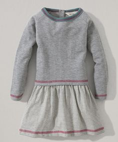 Take a look at this Heather Gray Organic Sweatshirt Dress - Infant & Toddler on zulily today!