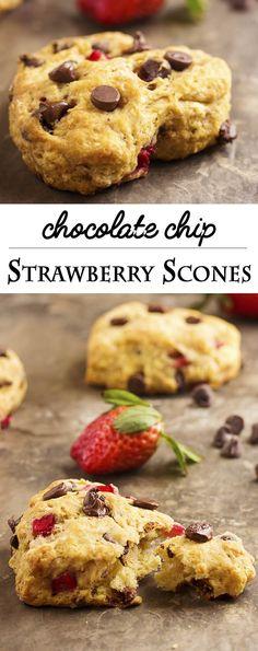 strawberry chocolate chip buttermilk scones strawberry chocolate chip ...