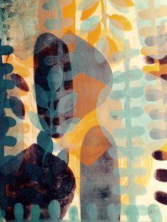 Monoprint by Henriëtte Pentenga