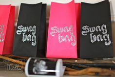 born to rock baby shower swag bags!