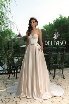 wedding dresses by BELFASO COUTURE ONLY at Charmé Gaby Bridal Gown boutique Clearwater FL