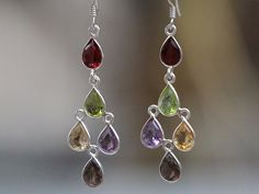 These beautiful earrings in our Sari Stone String collection are handmade in a small home-based workshop in the historic old city of Jaipur, India. Gemstone Earrings, Drop Earrings, Beautiful Earrings, Chakra, Gemstones, Silver, Handmade, Jewelry, Hand Made