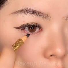 Anime Eye Makeup, Korean Eye Makeup, Eye Makeup Art, Eyebrow Makeup, Skin Makeup, Eyeshadow Makeup, Makeup Order, Make Up Anleitung, Eye Makeup Designs