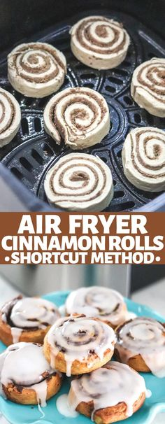 Making Cinnamon Rolls has never been quicker and easier than with the air fryer! Family friendly breakfast is served in less than 10 minutes!
