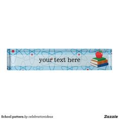 Sold #School #pattern #desk #nameplates #teacher Available in different products. Check more at www.zazzle.com/celebrationideas