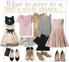 """""""What to wear to a 50's style dance !"""" by teenage-to-teenage-tips-xo ❤ liked on Polyvore"""