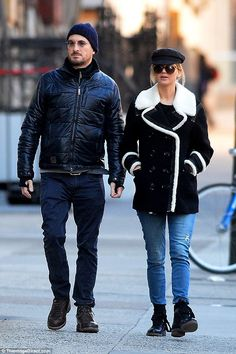 No hiding it: Jennifer Lawwrence, 26, and Darren Aronofsky, 47, were spotted out for a wal...