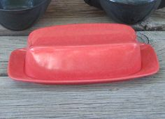 Melmac Butter Dish Branchell Color Flyte Coral by RestylingThePast, $10.00