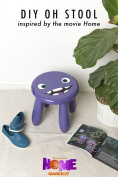 The Oh stool is the perfect chair for a child's bathroom. bedroom or play room. Sponsored by DreamWorks.