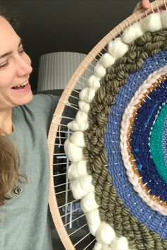 Textiles, Art Textile, Decoration, Creations, Rugs, Circular Weaving, Merino Wool, Wall Art, Handicraft