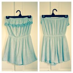 ⚡️SALE⚡️ Vintage Terry cloth Romper Super cute and comfortable! Made of terry cloth in a pastel Aqua color. Perfect for poolside or a day at the beach!! In excellent condition. Fits size small-medium Vintage Dresses