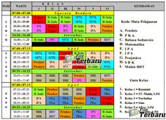 Download Aplikasi Jadwal Pelajaran Format Excel Terbaru Lengkap SD/MI SMP/MTs SMA/SMK