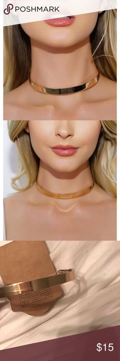 Gold Choker Necklace NWT  ◾️Gold Choker  Adjustable Clasp Back Closure   ◾️If You Have A Requested Size For Future Items. Drop Me A Comment Below  Jewelry Necklaces