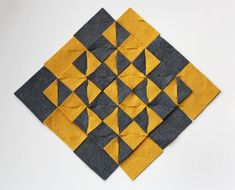 modular felt trivet - no sewing or glueing