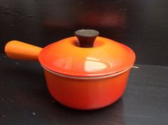 Vintage  Le Creuset small Sauce pan in the by Onmykitchentable