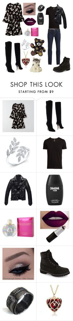 """""""Day out with Draven"""" by gsusan on Polyvore featuring American Eagle Outfitters, Jimmy Choo, Anne Sisteron, H&M, Elizabeth Taylor, Timberland, Catherine Marche and Nudie Jeans Co."""